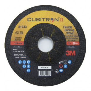 DISCO DESBASTE 3M CUBITRON II 125X3X22 G36 14443