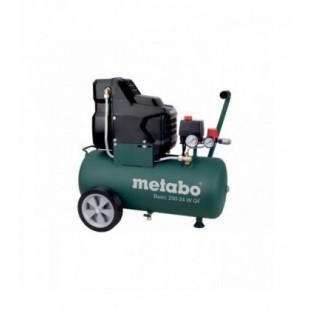 COMPRESOR SIN ACEITE METABO BASIC 250-24 W OF 2CV CON ACCESORIOS